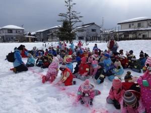 これから雪上運動会だよ
